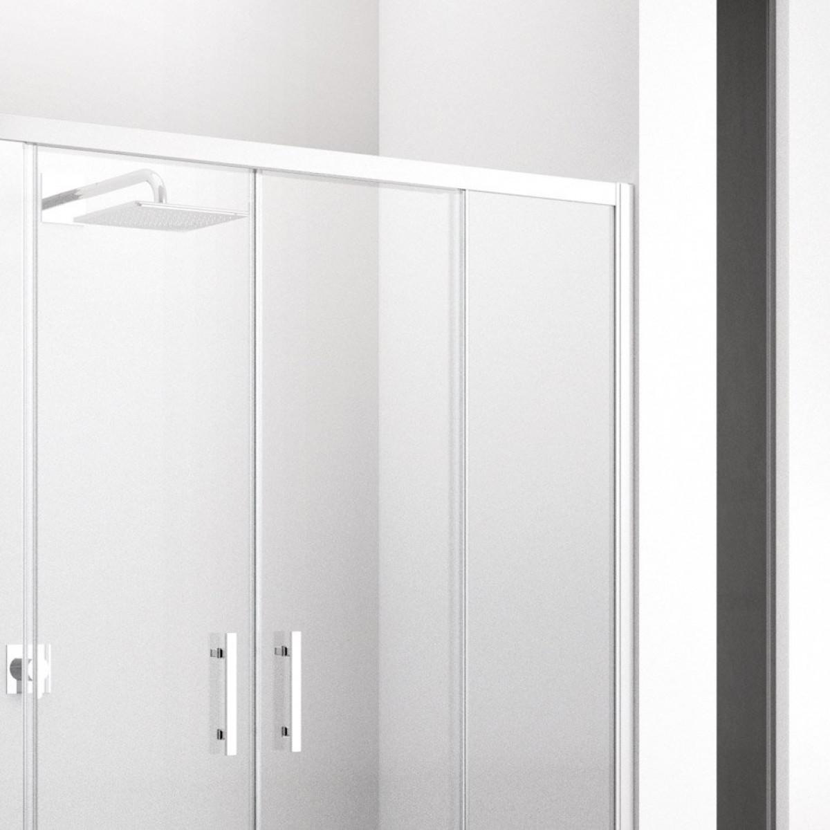 Novellini zephyros 2a sliding shower doors 1760 1820mm for Novellini shower doors