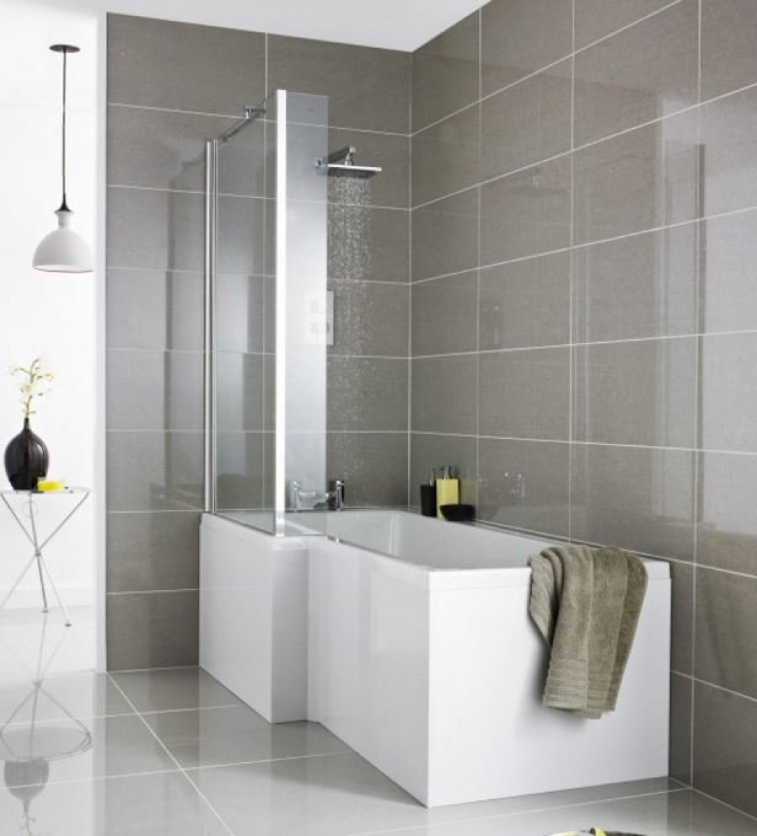 Premier Square 1700mm Left Hand Showerbath with Screen & Panel | PBS001