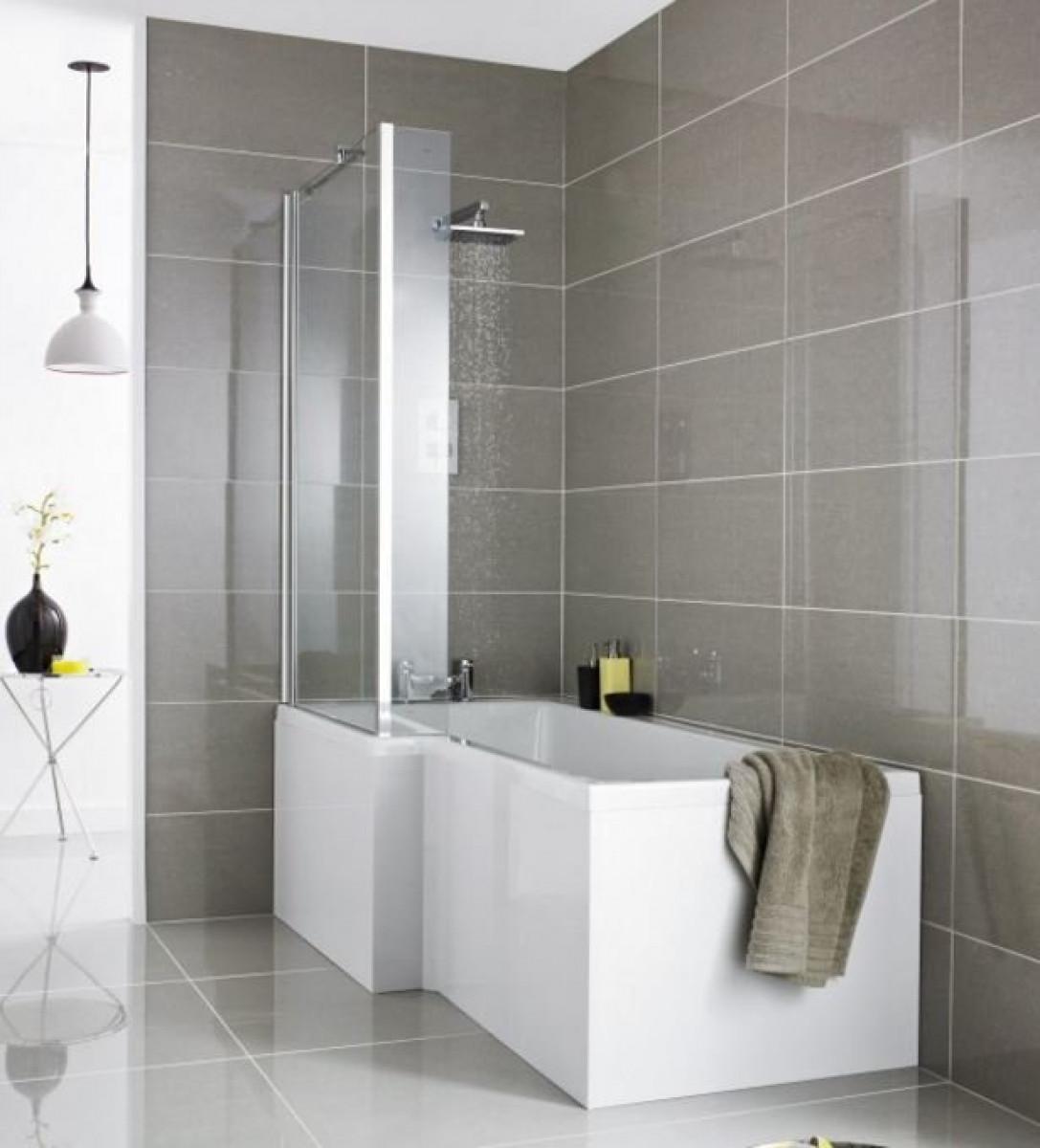 Premier Square 1700mm Left Hand Shower Bath | BMBS1785L -