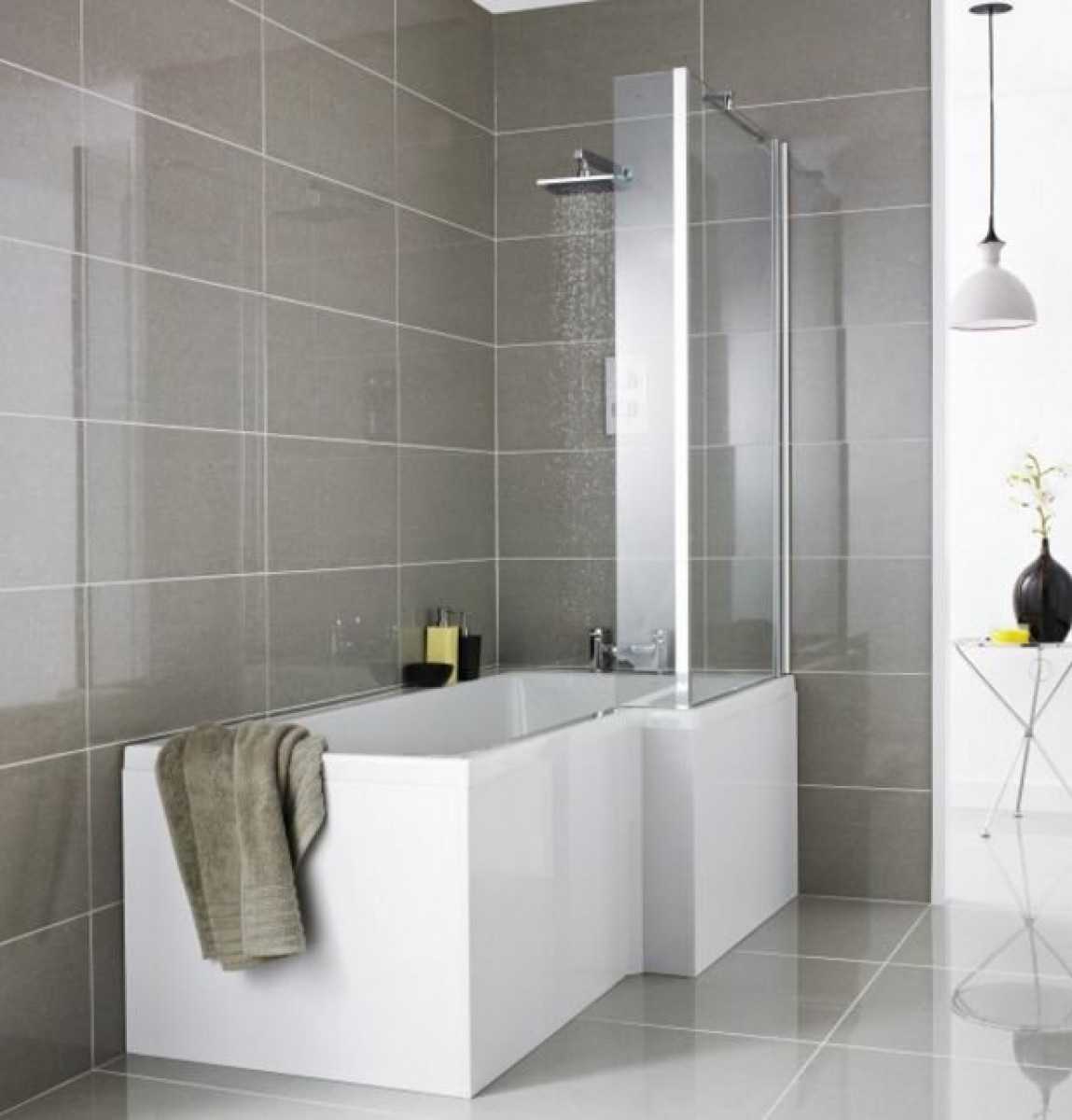 Premier Square 1700mm Right Hand Shower Bath | BMBS1785R