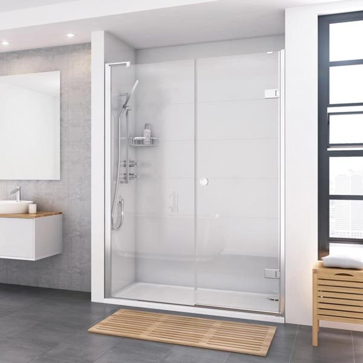 Roman Decem Inward Opening Hinged Shower Door Inline