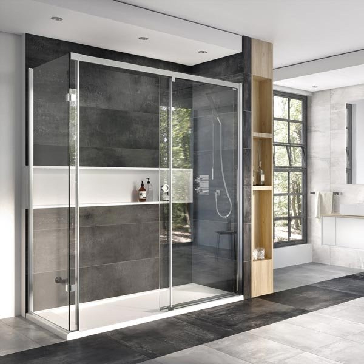 Roman Decem Level Access Sliding Door Corner Fitting