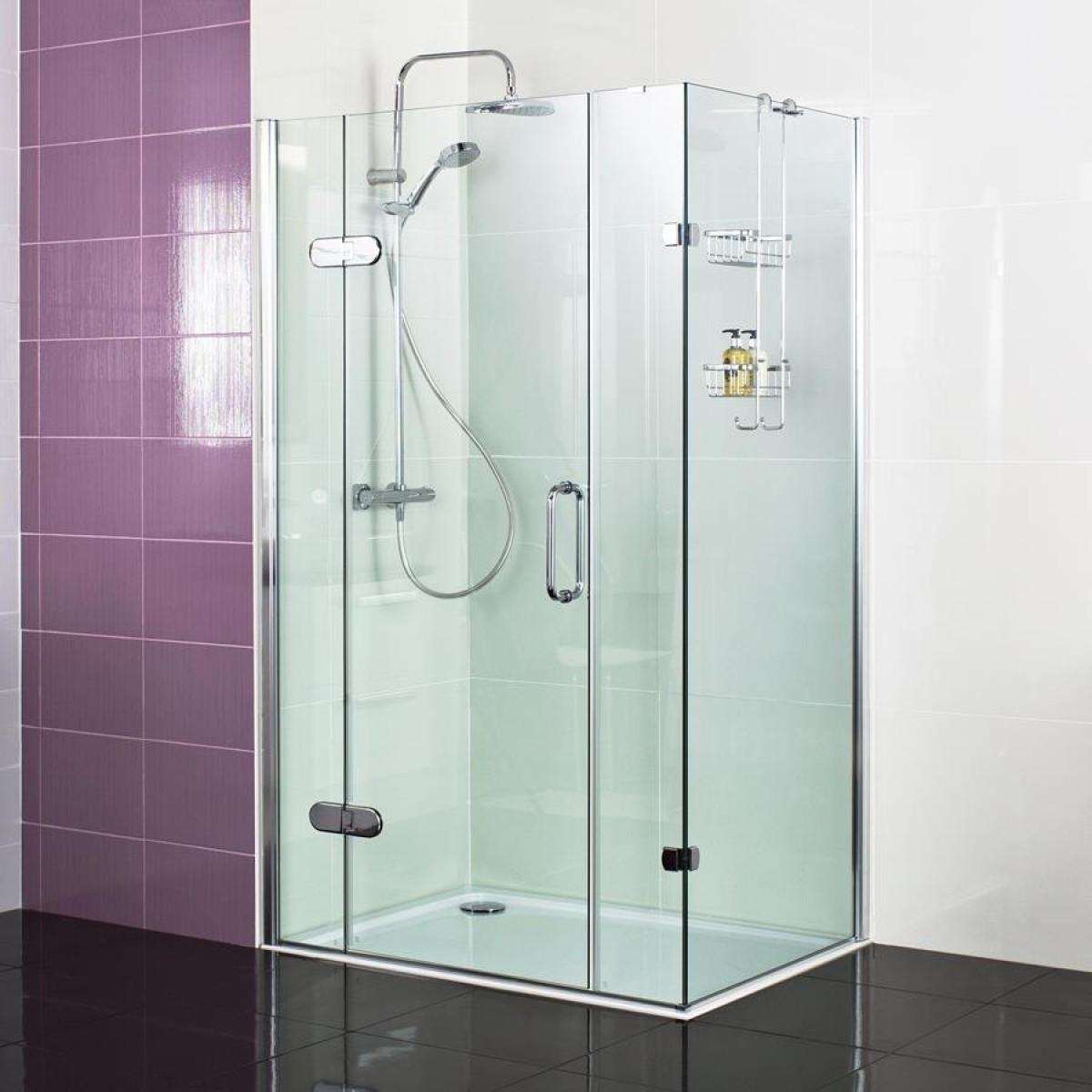 Roman Decem Hinged Shower Enclosure 1400 X 900 Amp 2 Inline