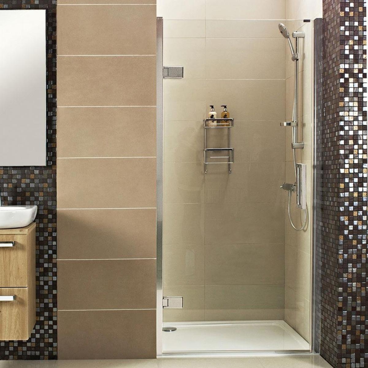 Roman Decem Hinged Shower Door Alcove Fitting 760mm Dxl76
