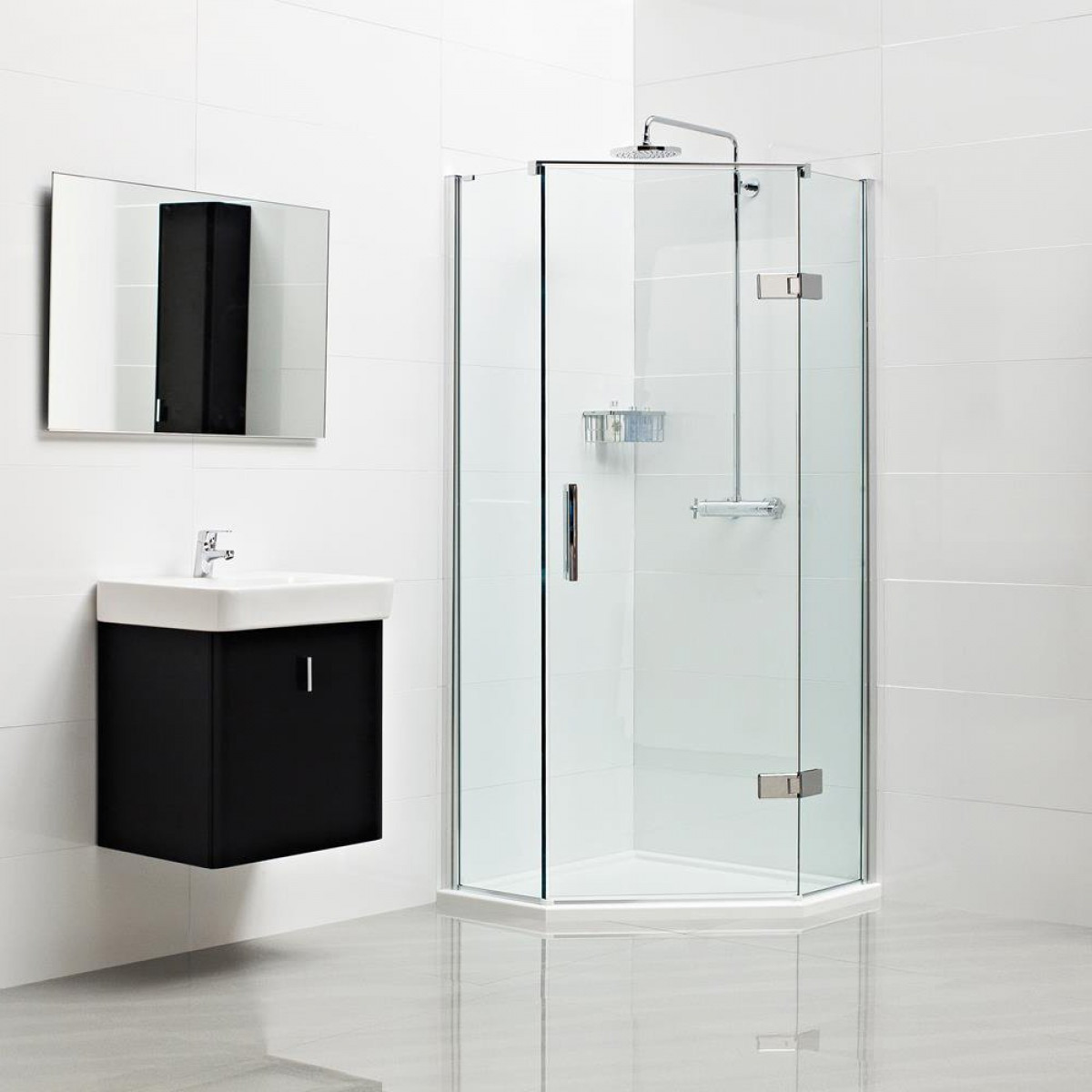 Roman Decem Neo Angle Shower Enclosure 900 X 900 Right Handed ...