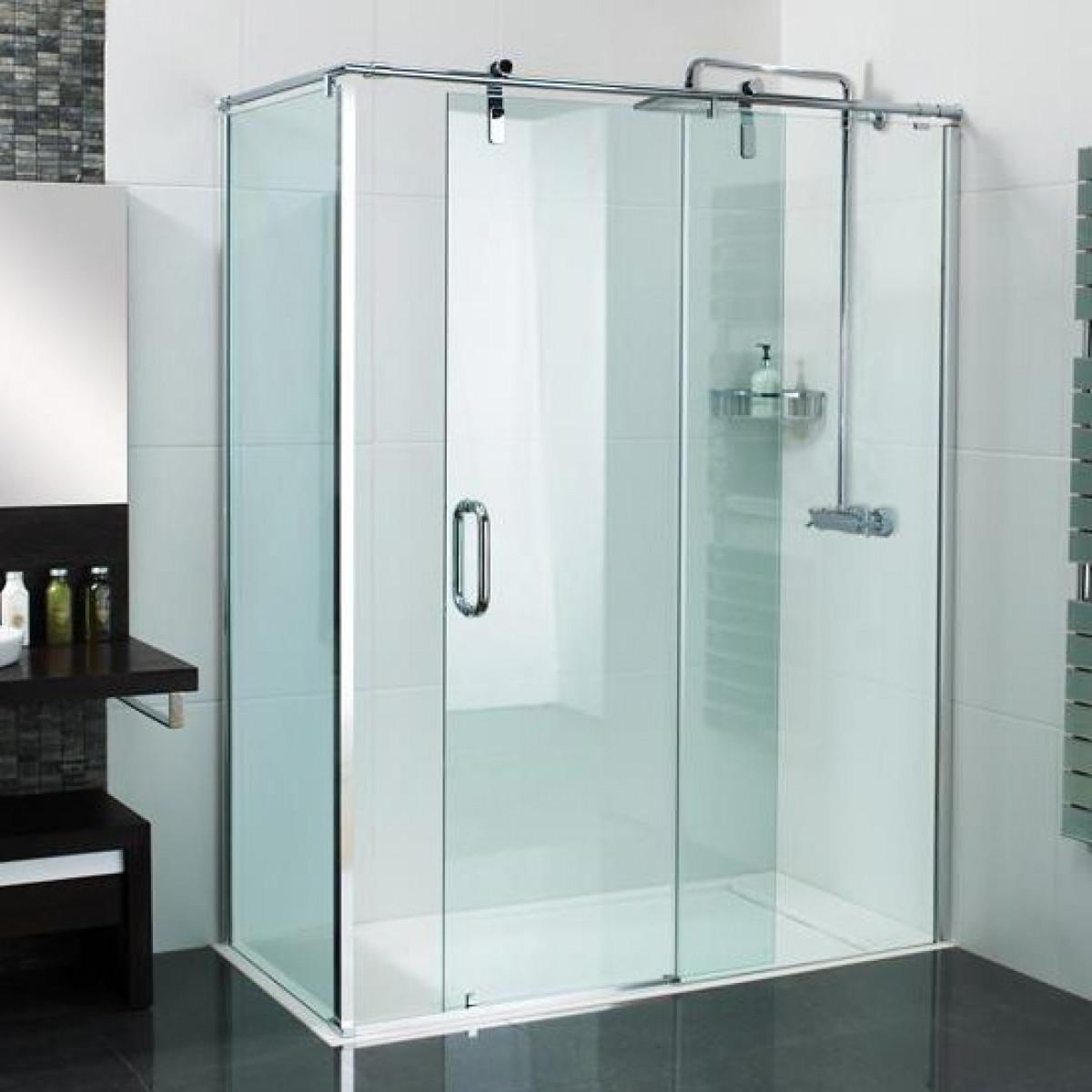 Roman Decemx Sliding Shower Door 1200 X 800mm Corner