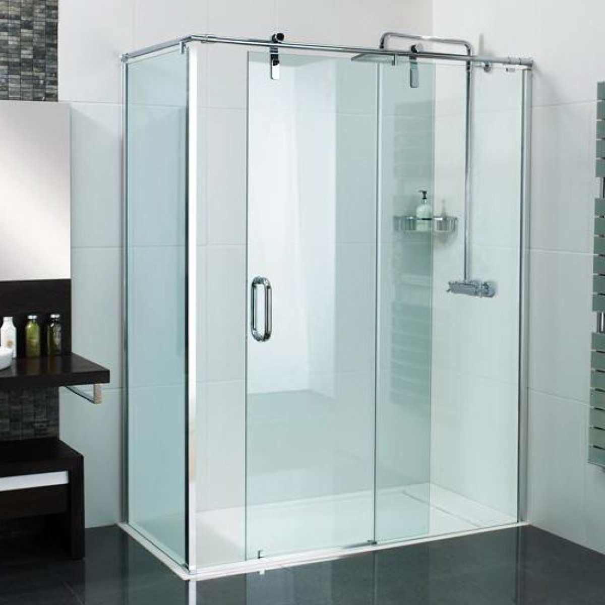 Roman Decemx Sliding Shower Door 1400 X 900mm Corner