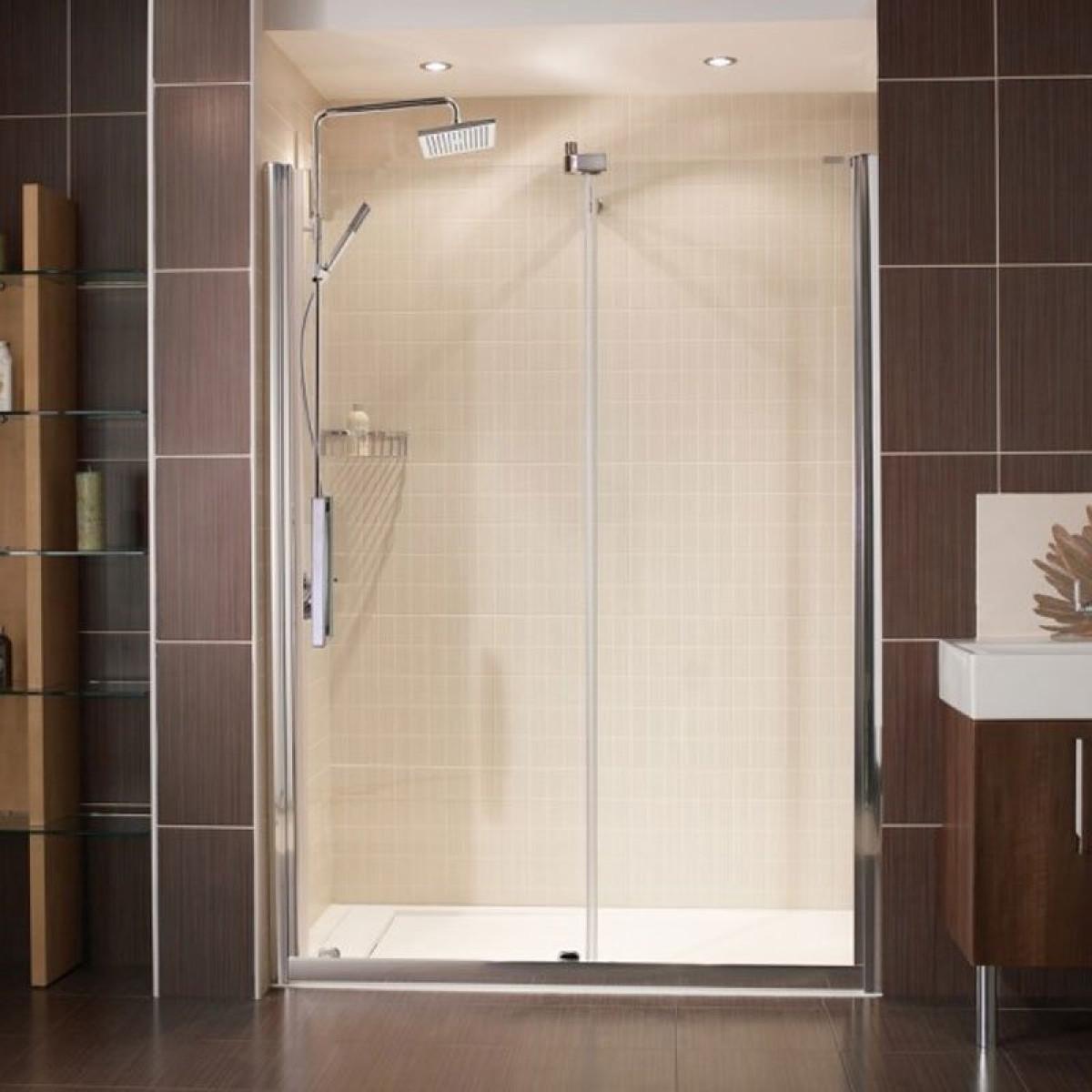 Bathroom Shower Sliding Doors: Roman Desire 1400mm Frameless Sliding Shower Door