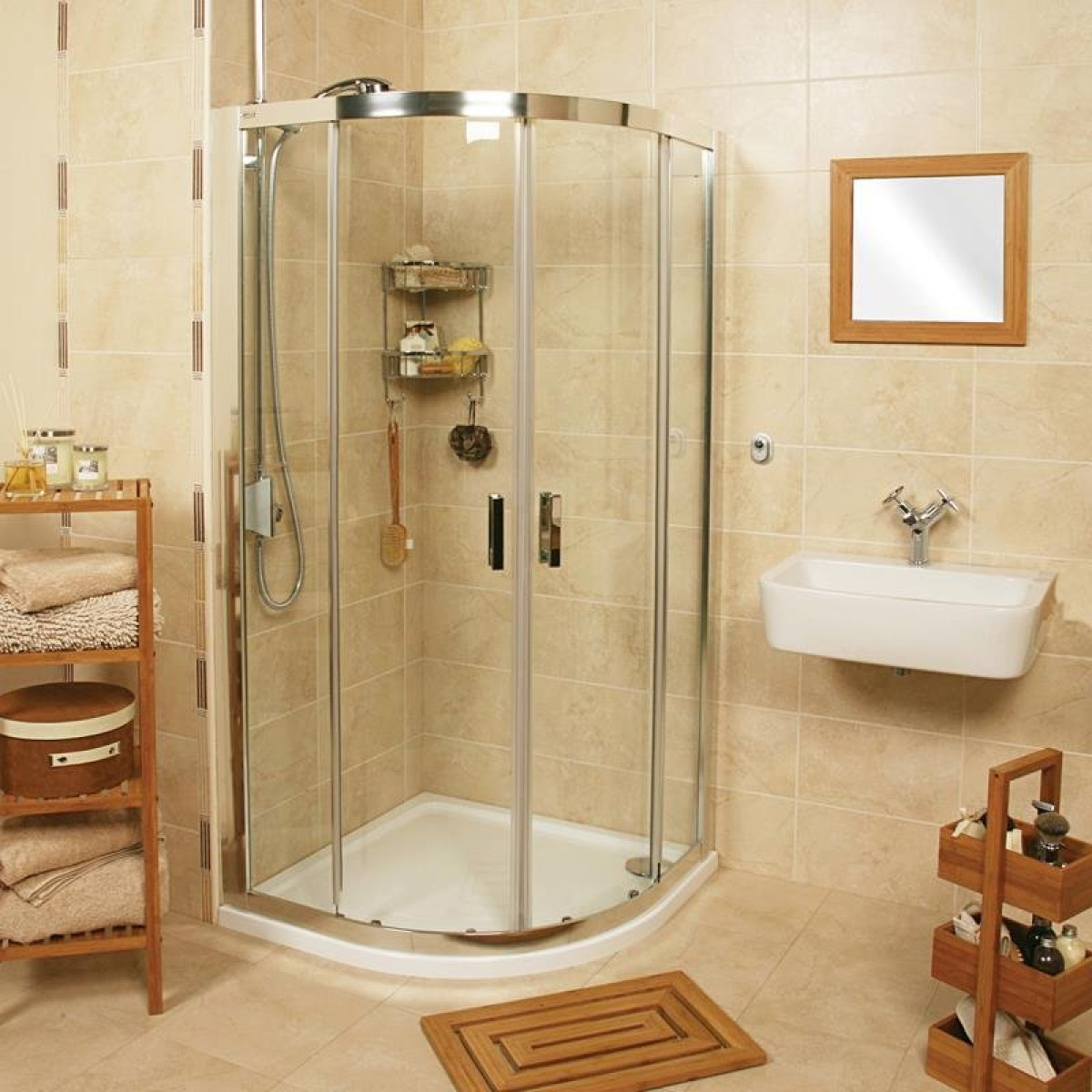 Roman Embrace 800 X 800mm Quadrant Twin Door Shower