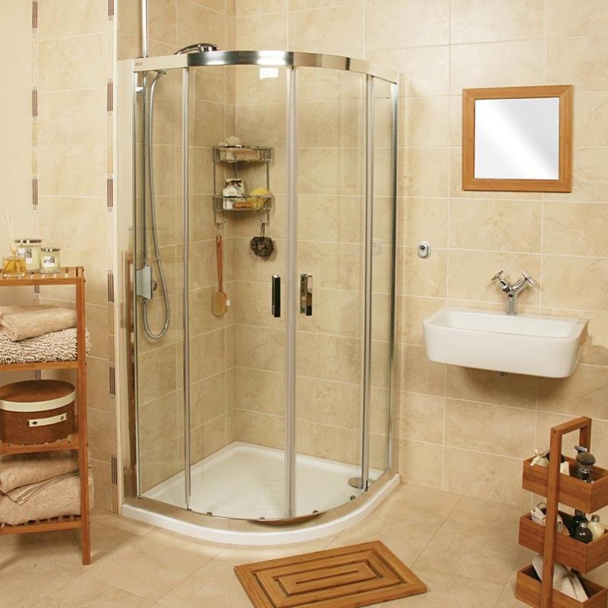 Roman Embrace 900 X 900mm Quadrant Twin Door Shower