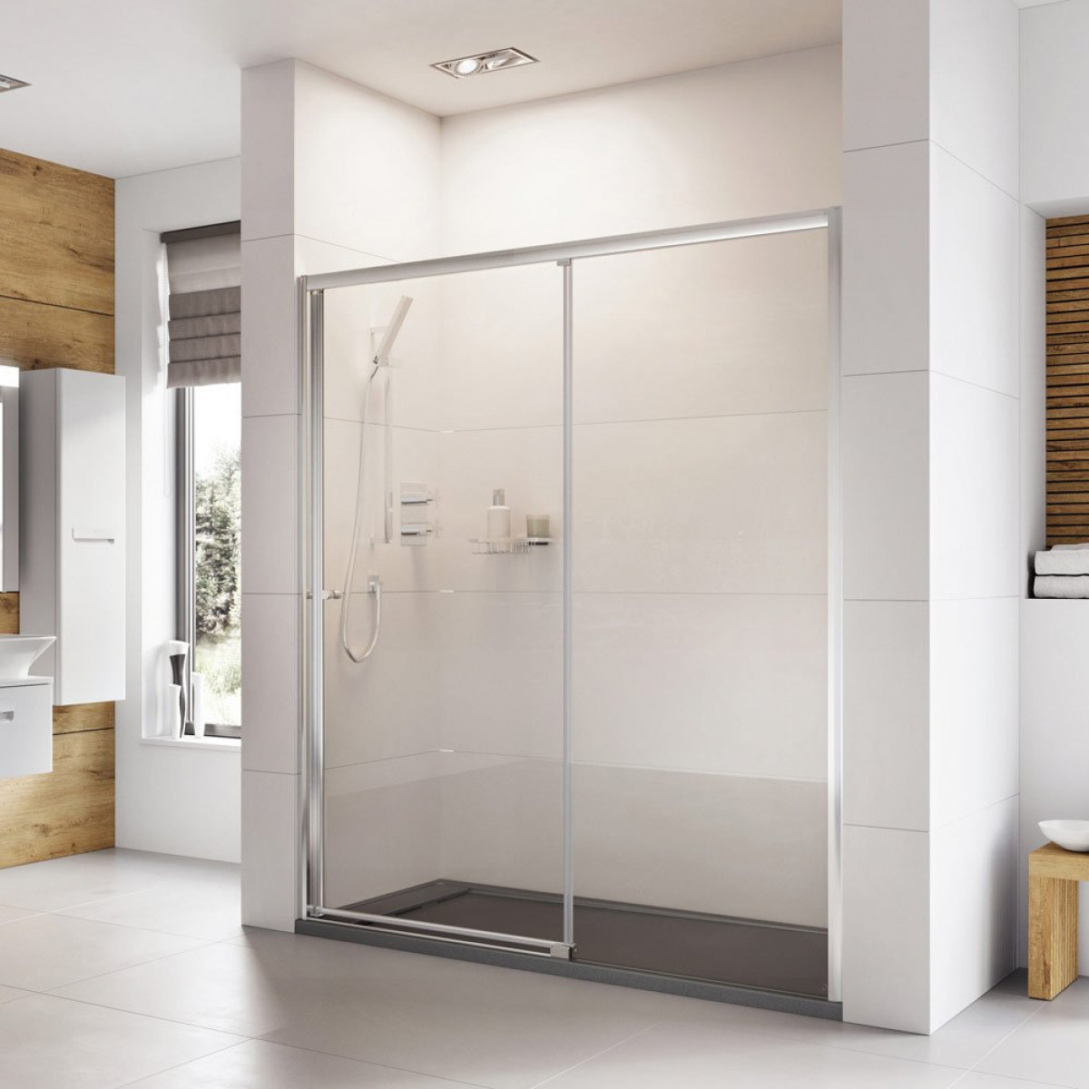 Roman Haven 1100mm Level Access Left Hand Sliding Shower