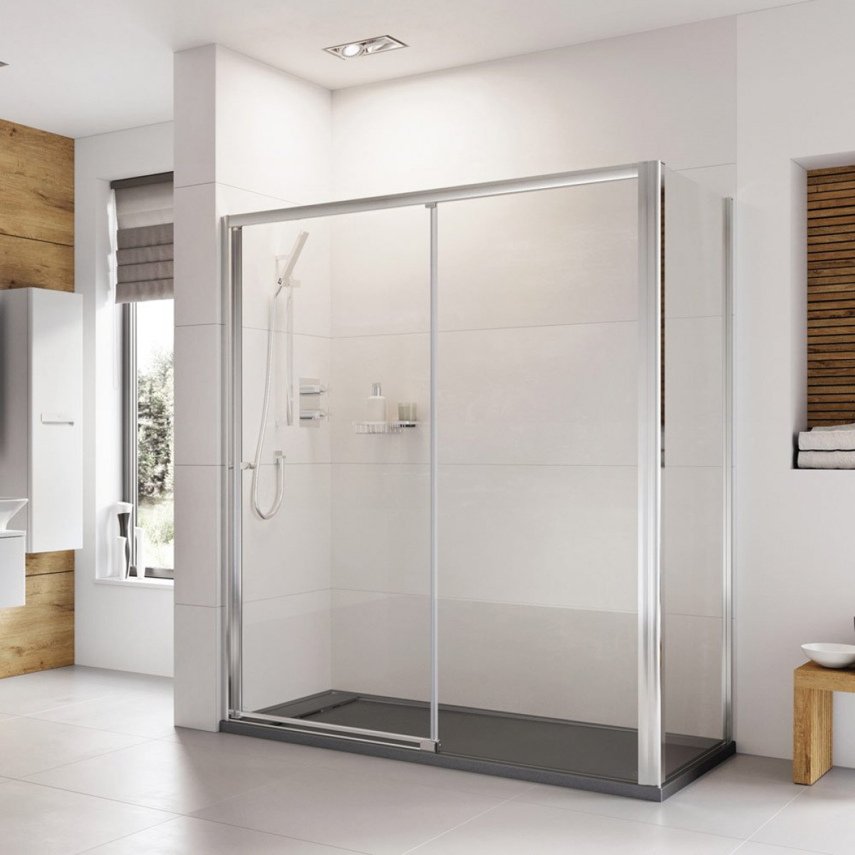 Roman Haven 1200mm Level Access Left Hand Sliding Shower
