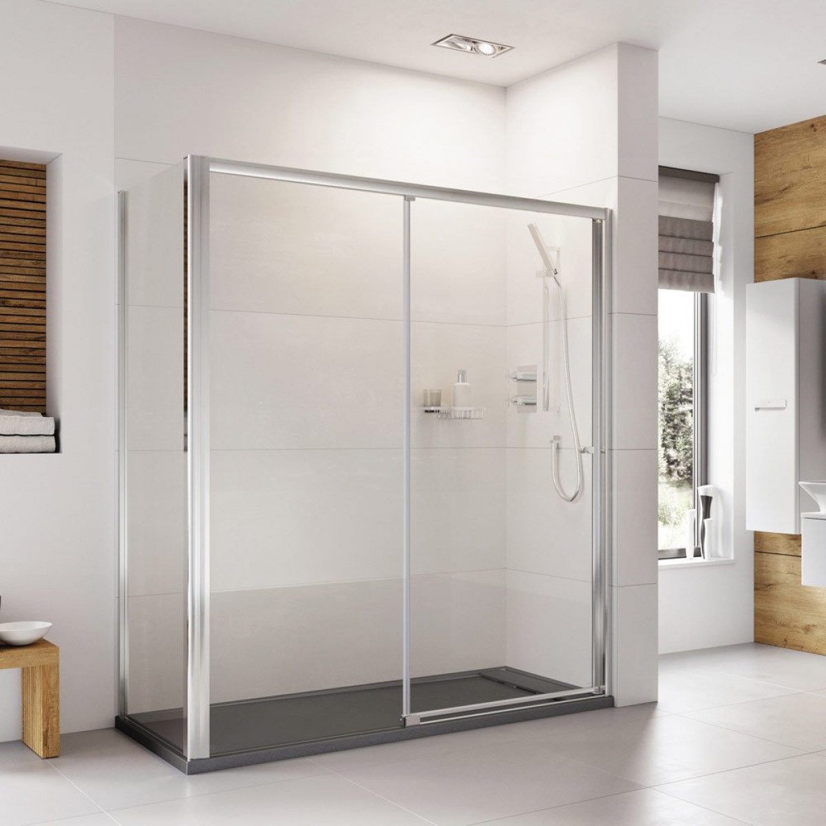 Roman Haven 1400mm Level Access Right Hand Sliding Shower