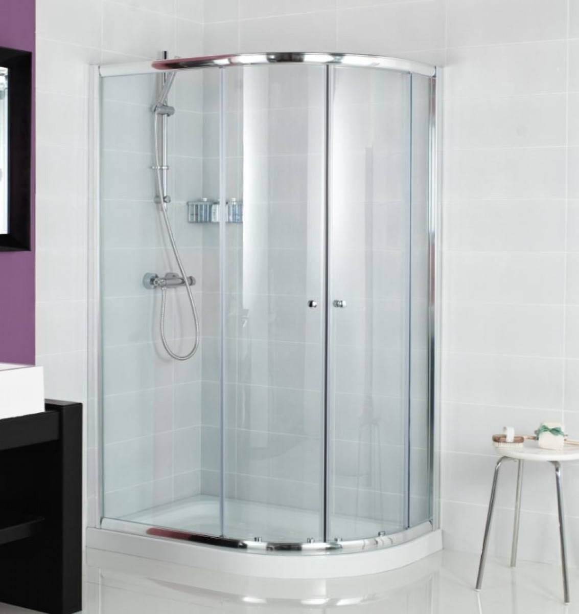 Roman Haven 800 X 1200mm Offset Quadrant Shower Enclosure
