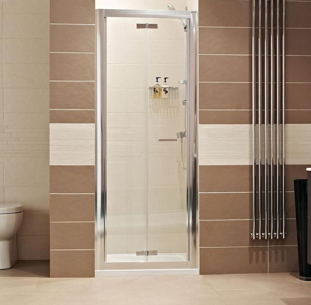 Roman lumin8 1200mm bifold shower door for 1200mm shower door