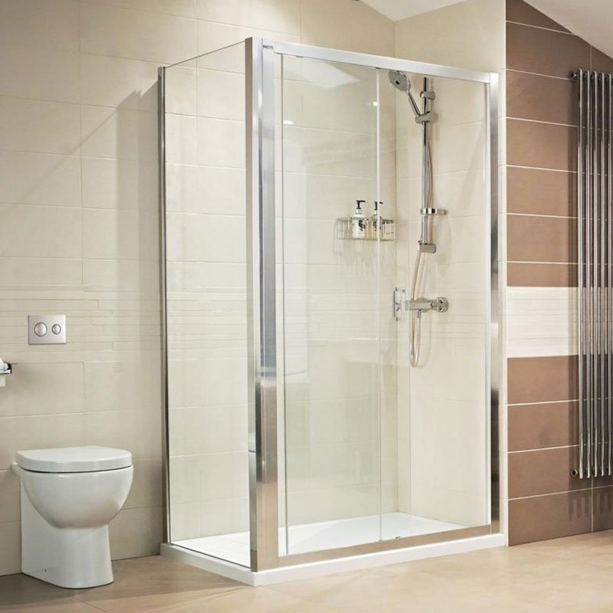 Roman lumin8 1400mm sliding shower door for 1400 sliding shower door