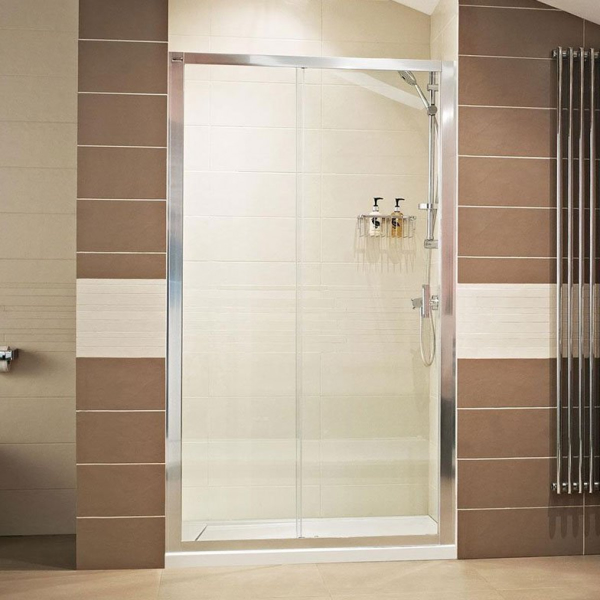 Roman Lumin8 1400mm Sliding Shower Door V8t1413s