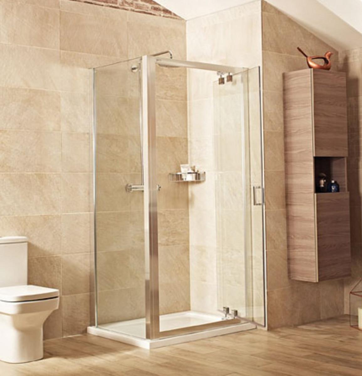 Roman Lumin8 900mm Inswing Shower Door V8k913s