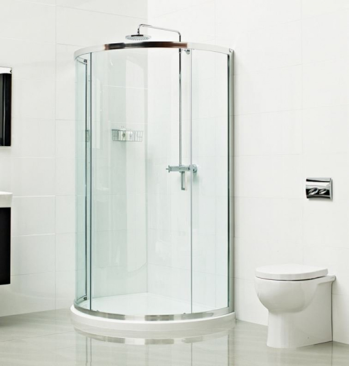 Roman Lumin8 900mm Bow Fronted Quadrant Shower Enclosure
