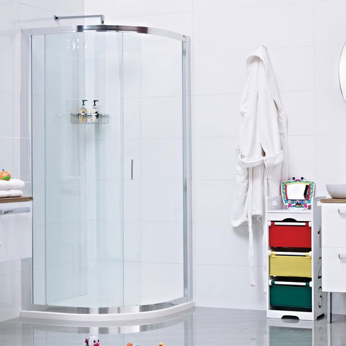Roman Lumin8 One Door 900 X 900 Quadrant Shower Enclosure