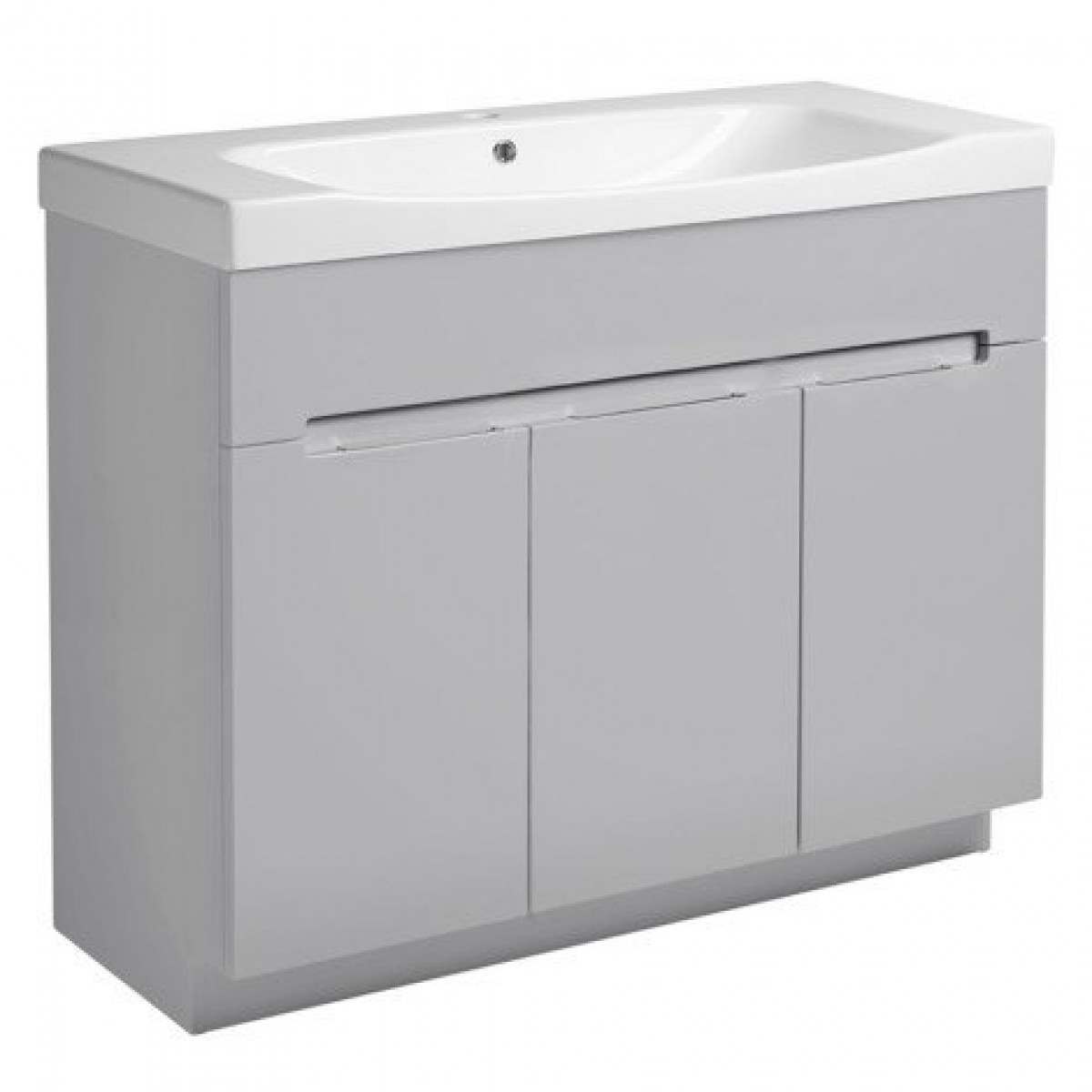 Roper rhodes diverge gloss light grey 1000mm freestanding for Bathroom mirror cabinets 900mm and 1000mm