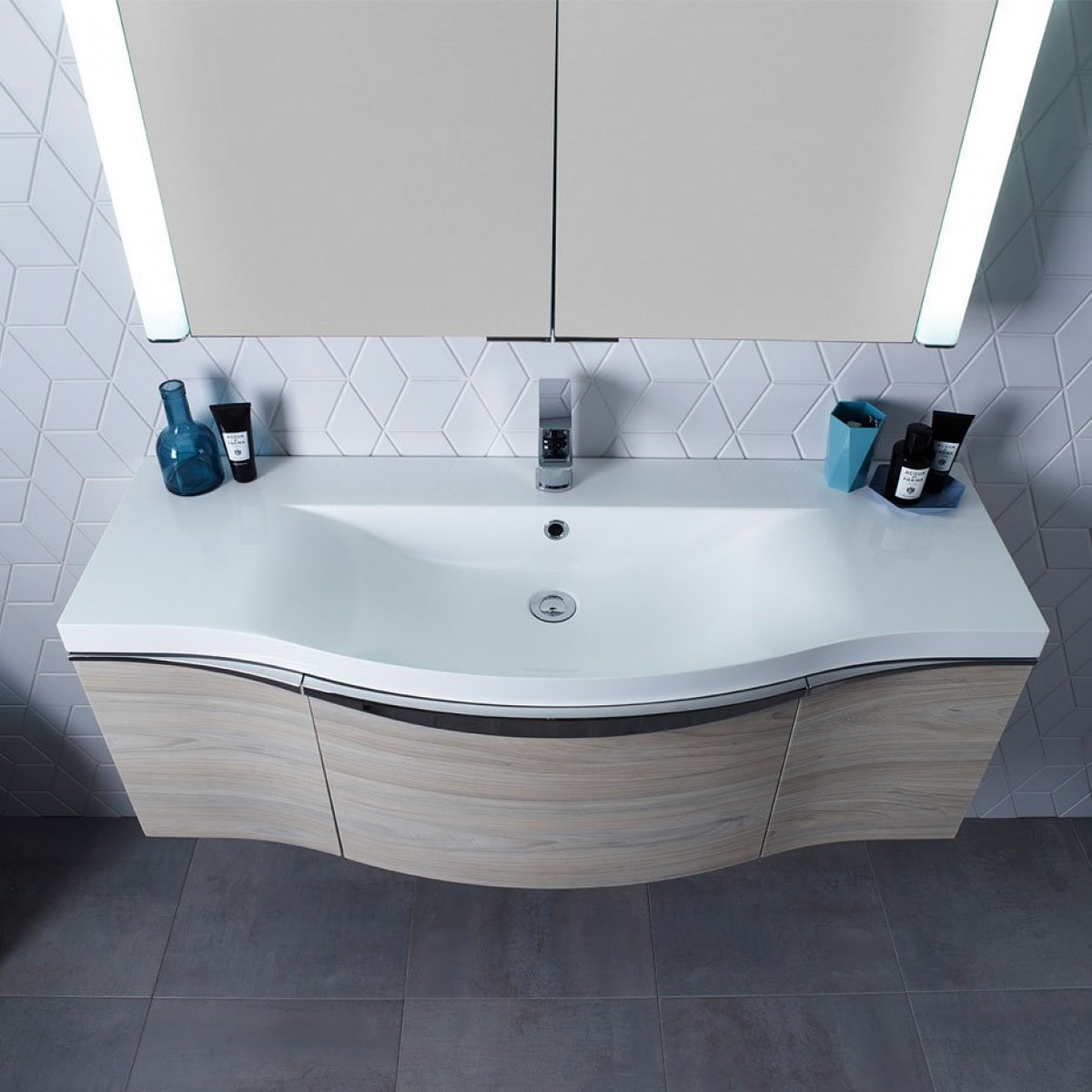 Roper Rhodes Serif 1200mm Wall Mounted Basin Unit In Light