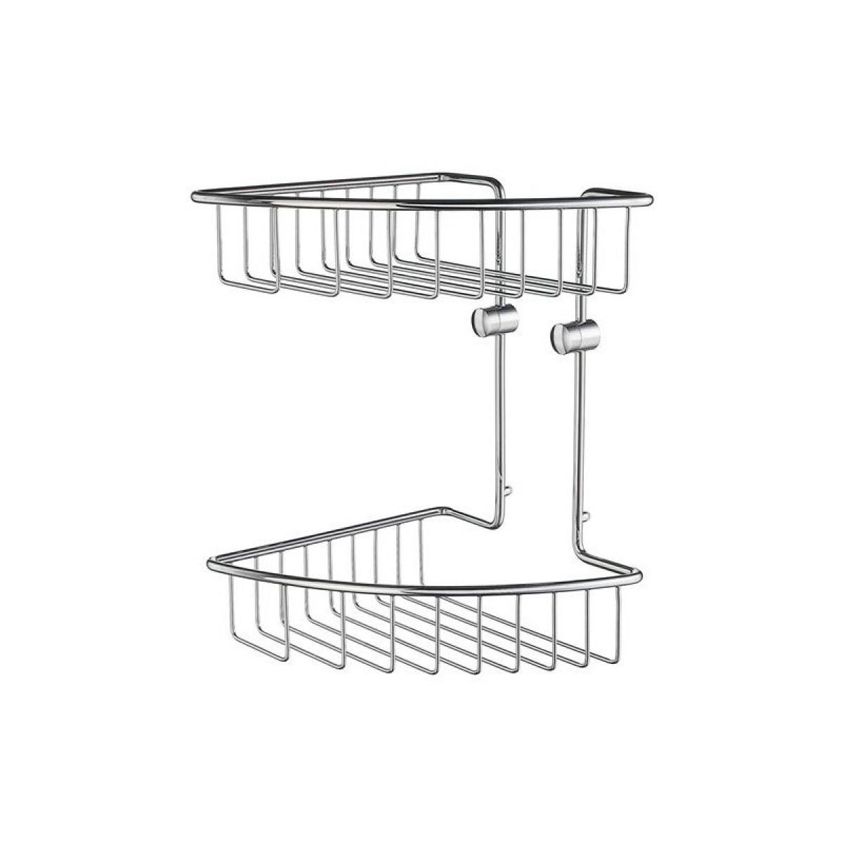 Smedbo Home Double Corner Shower Basket HK377 -
