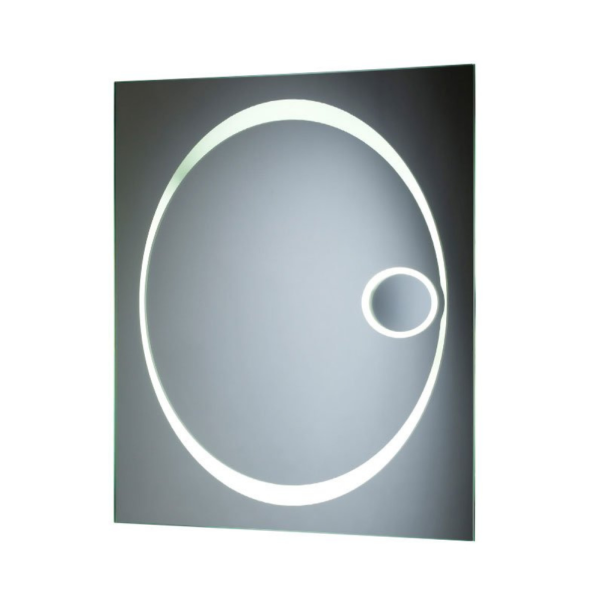 Tavistock vapour backlit mirror with magnifier 600 x 800mm for Mirror 800 x 600