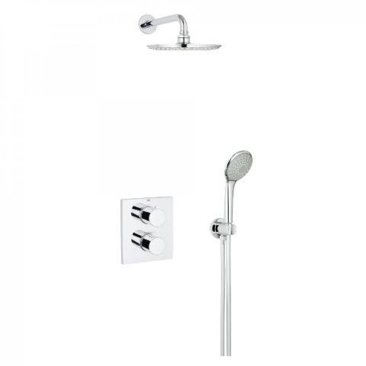 grohe grohtherm 3000 cosmopolitan perfect shower set 34408000. Black Bedroom Furniture Sets. Home Design Ideas