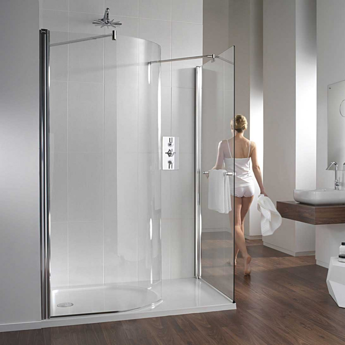 Twyford hydr8 walk in curve shower enclosure for Walk in shower plans and specs