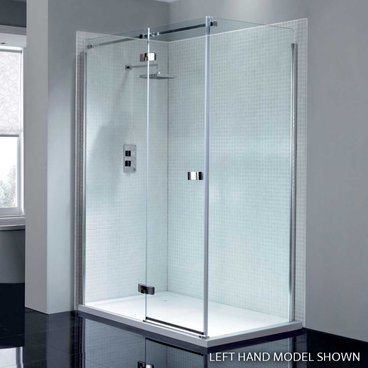 April Prestige2 Frameless 1200mm Hinge Shower Door with In-line ...