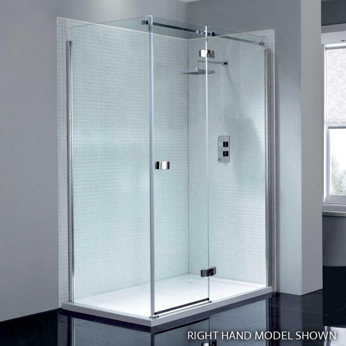 Hinged Glass Shower Doors And Panels : April prestige frameless mm hinge shower door with in