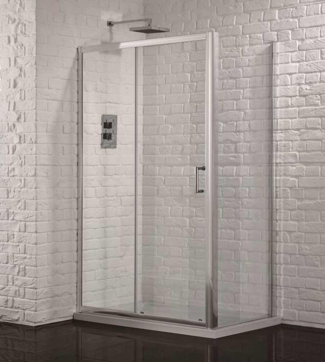 Aquadart venturi 6 1200mm sliding shower door for 1200mm shower door sliding