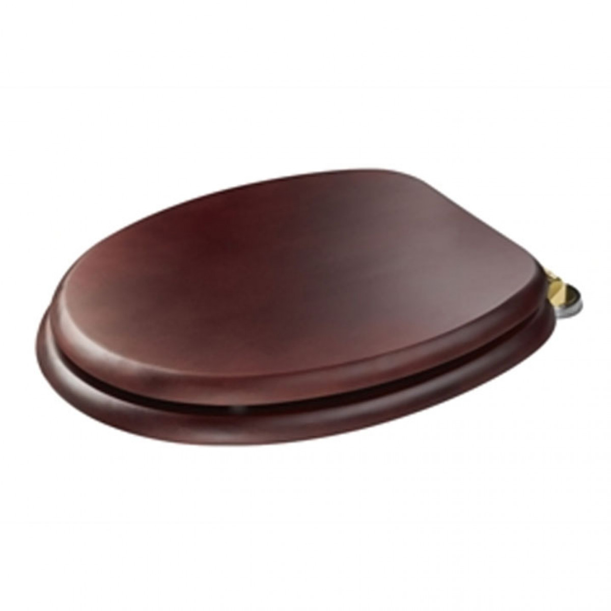 Croydex Douglas Wooden Toilet Seat With Brass Hinges