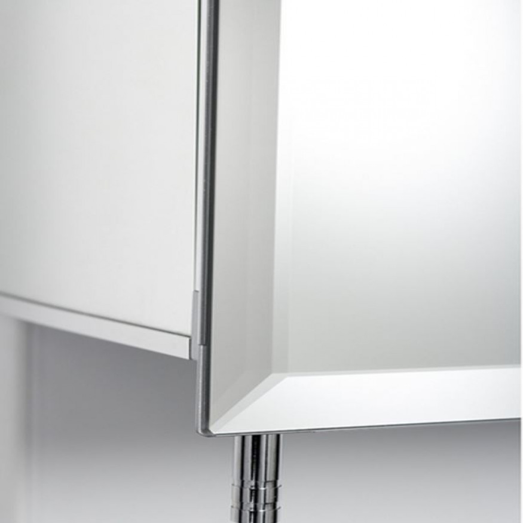 croydex single door aluminium bathroom cabinet 510 x 405mm