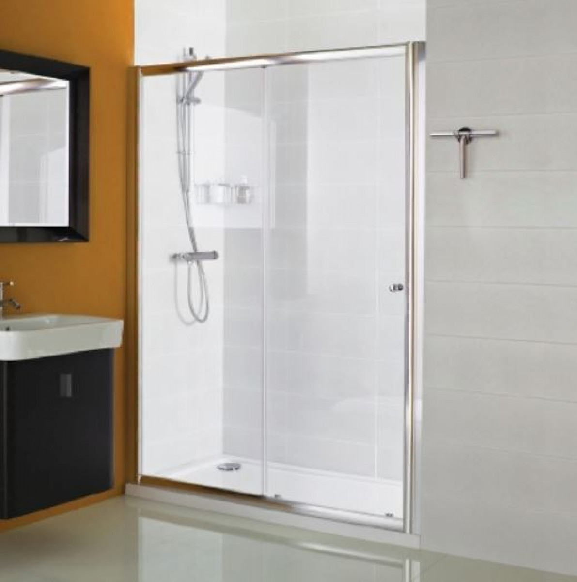 Haven 1200mm sliding shower door for 1200mm shower door sliding