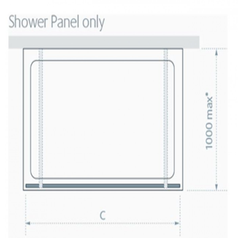 Lakes 1150mm riviera shower panel for 1150mm shower door