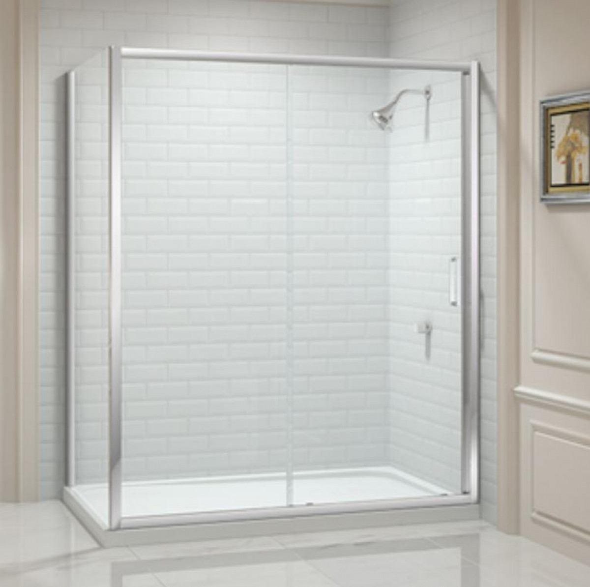 Merlyn 8 series 1000mm sliding shower door for 1000mm shower door