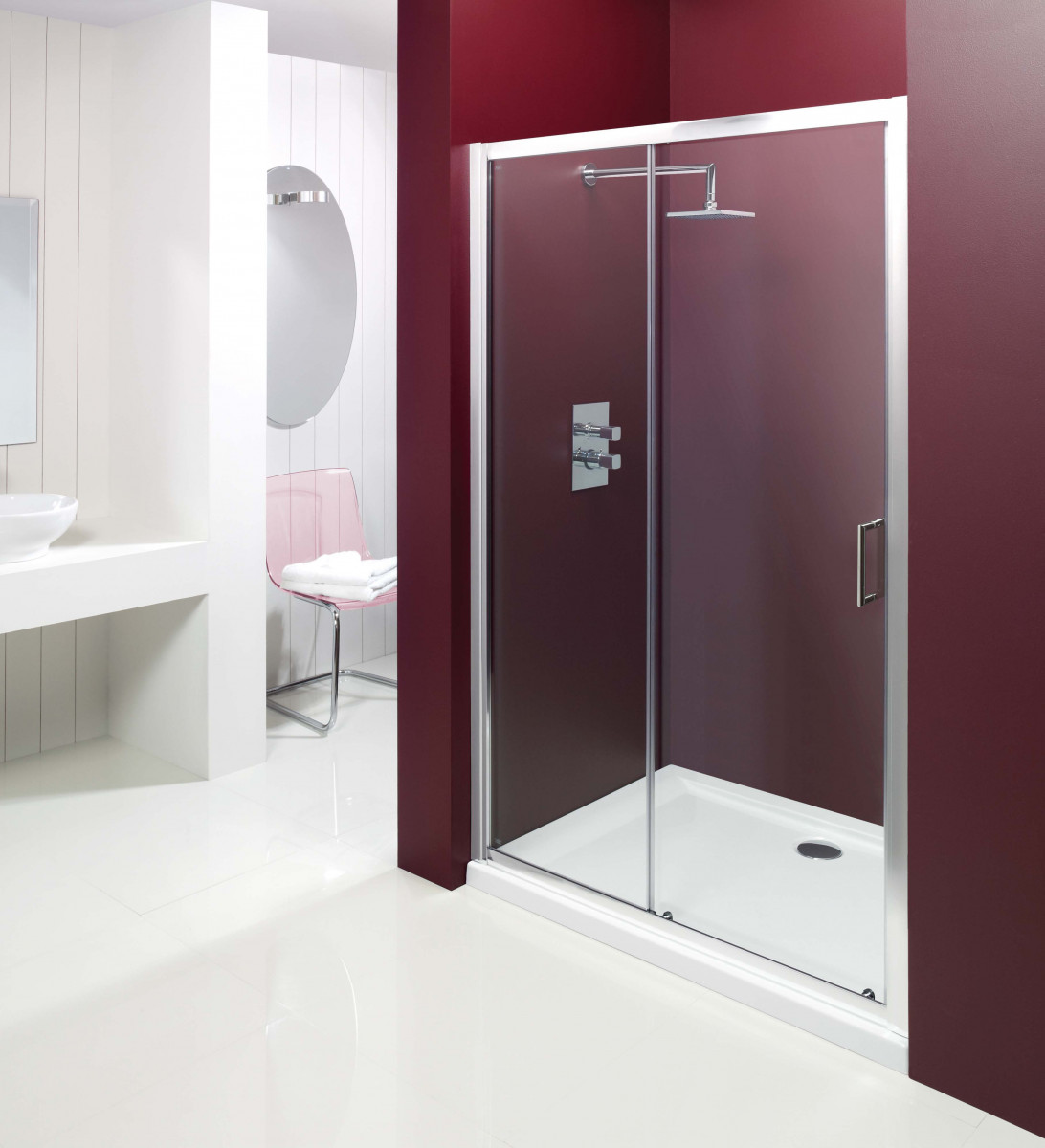 Merlyn vivid entree 1200mm sliding shower door for 1200mm shower door sliding