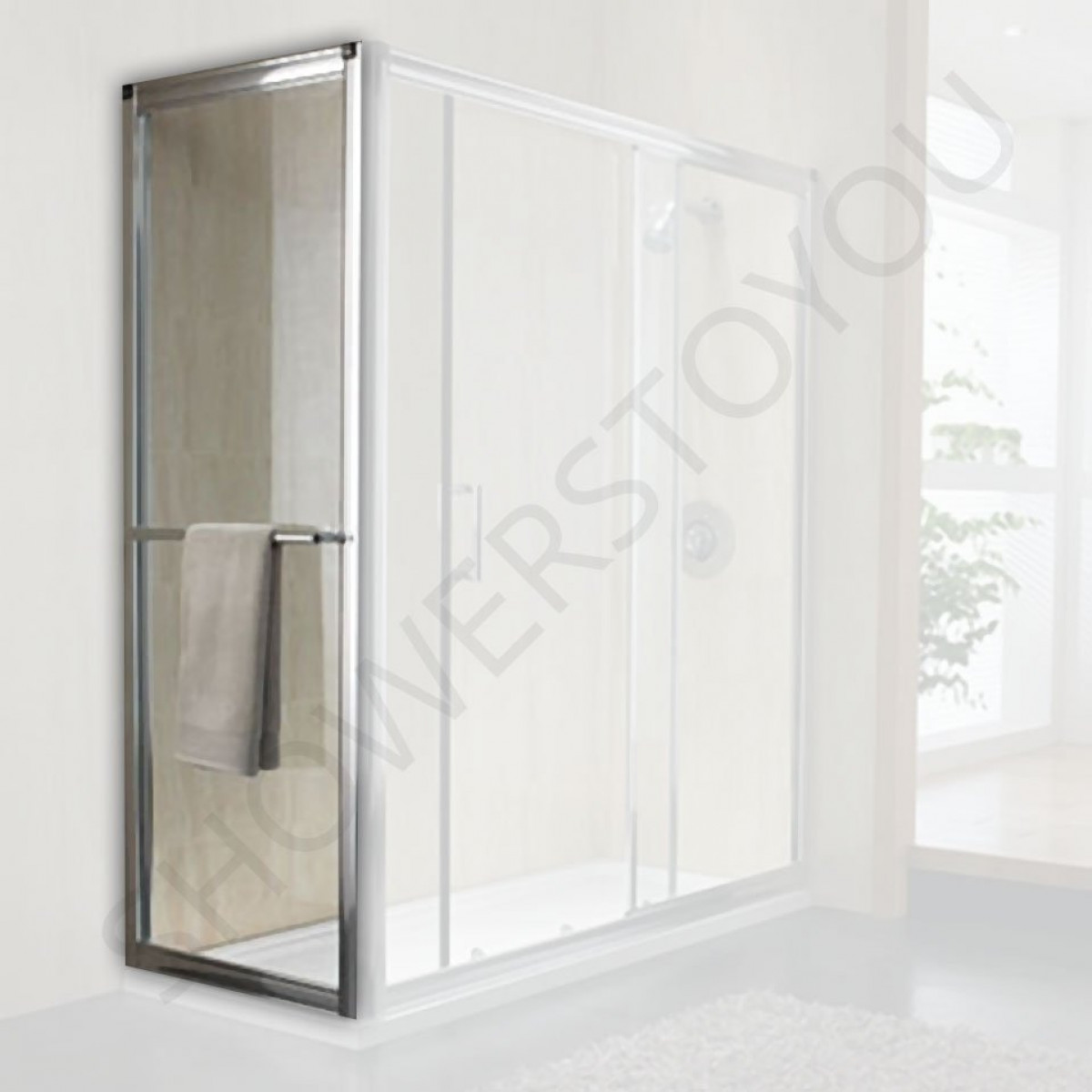 Twyford hydr8 1000mm sliding shower door h86500cp for 1000mm shower door