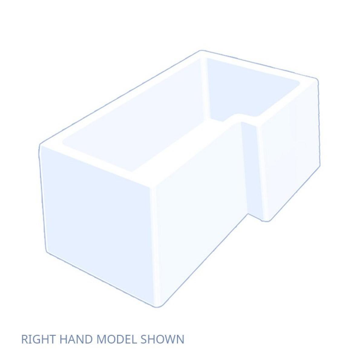 Carron Quantum 1500mm Square Shower Bath