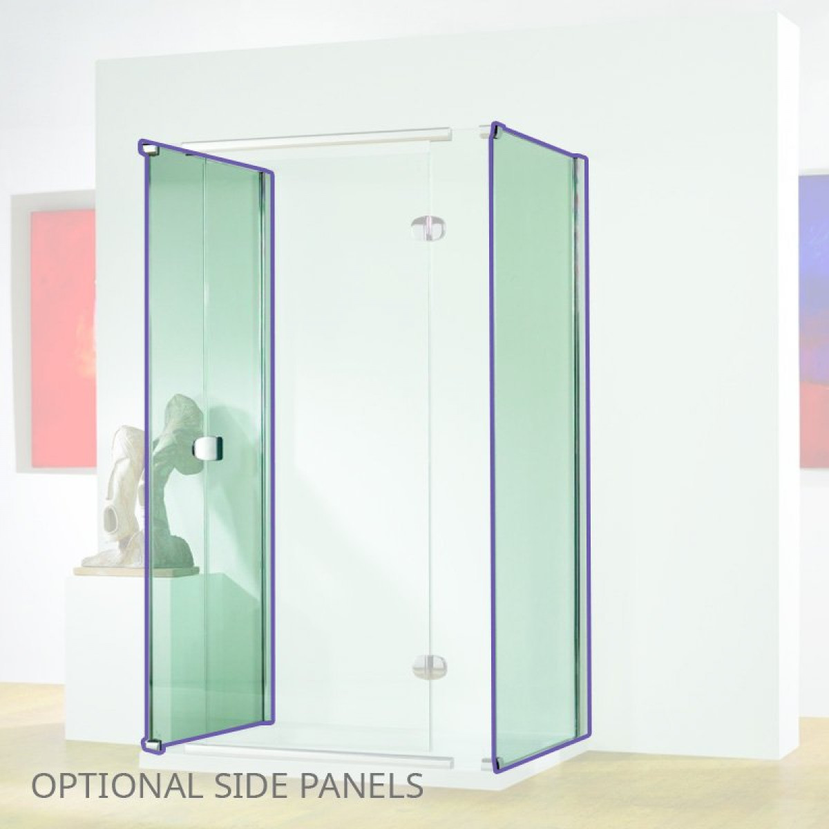 Kudos Infinite 1200mm Sliding Door Enclosure With Side