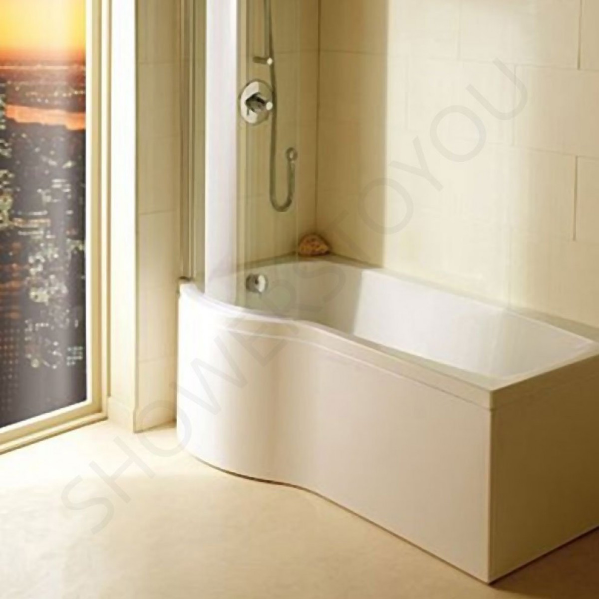 Carron Delta 1700x700 800mm Shower Bath