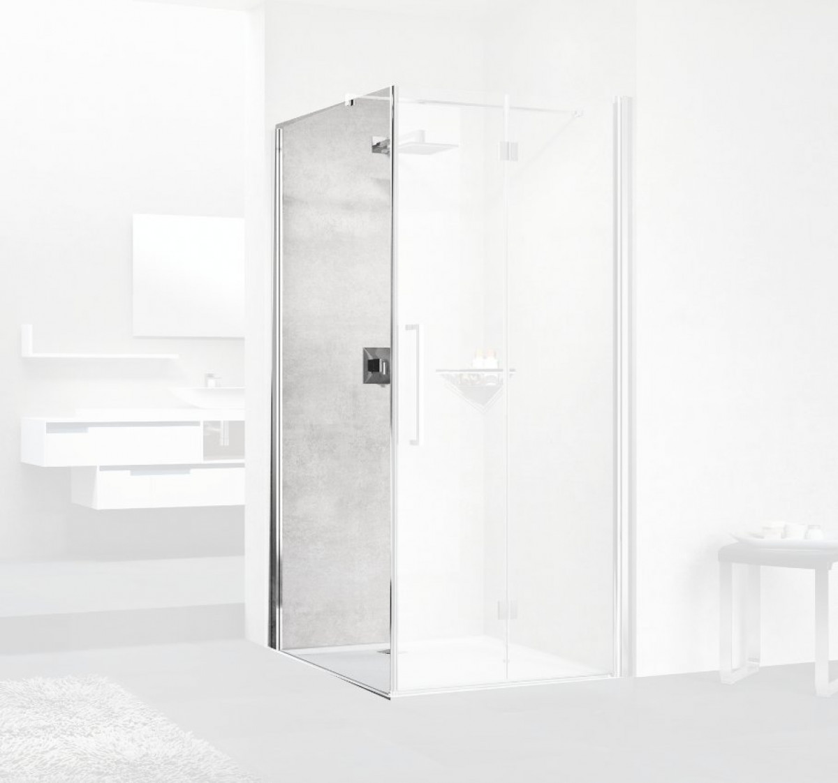 Novellini Young 2gs F Bifold 1000mm Shower Enclosure