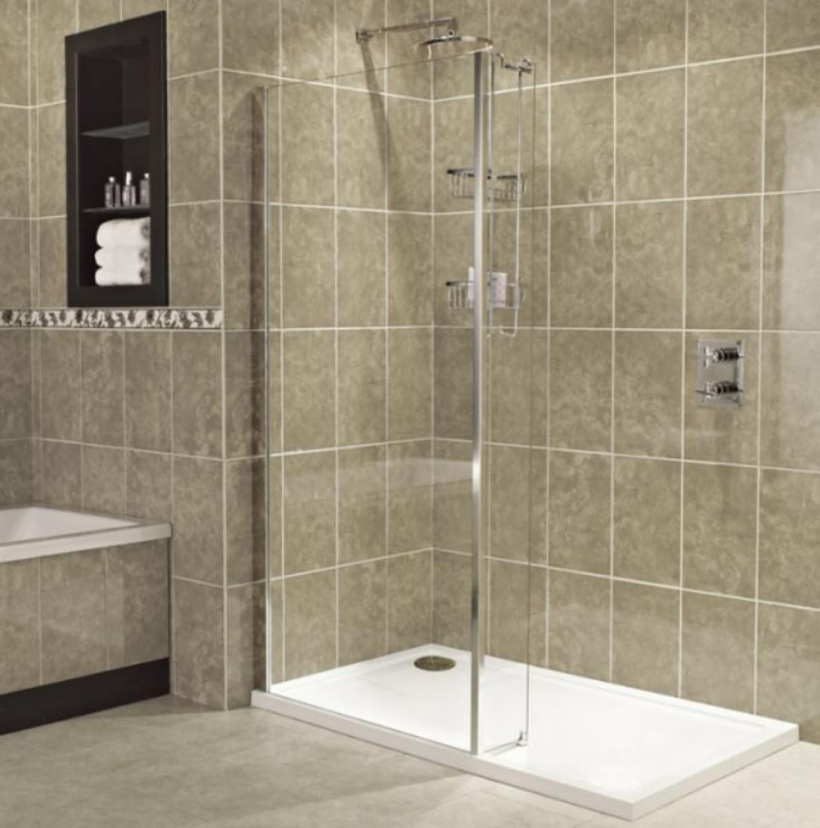 Roman Embrace L Shaped Wetroom Panel 900mm X 200mm