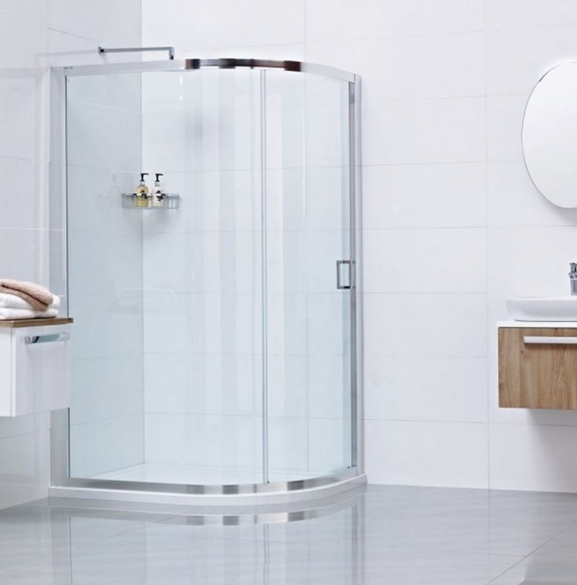 Roman Lumin8 One Door 800 X 1200 Offset Quadrant Shower