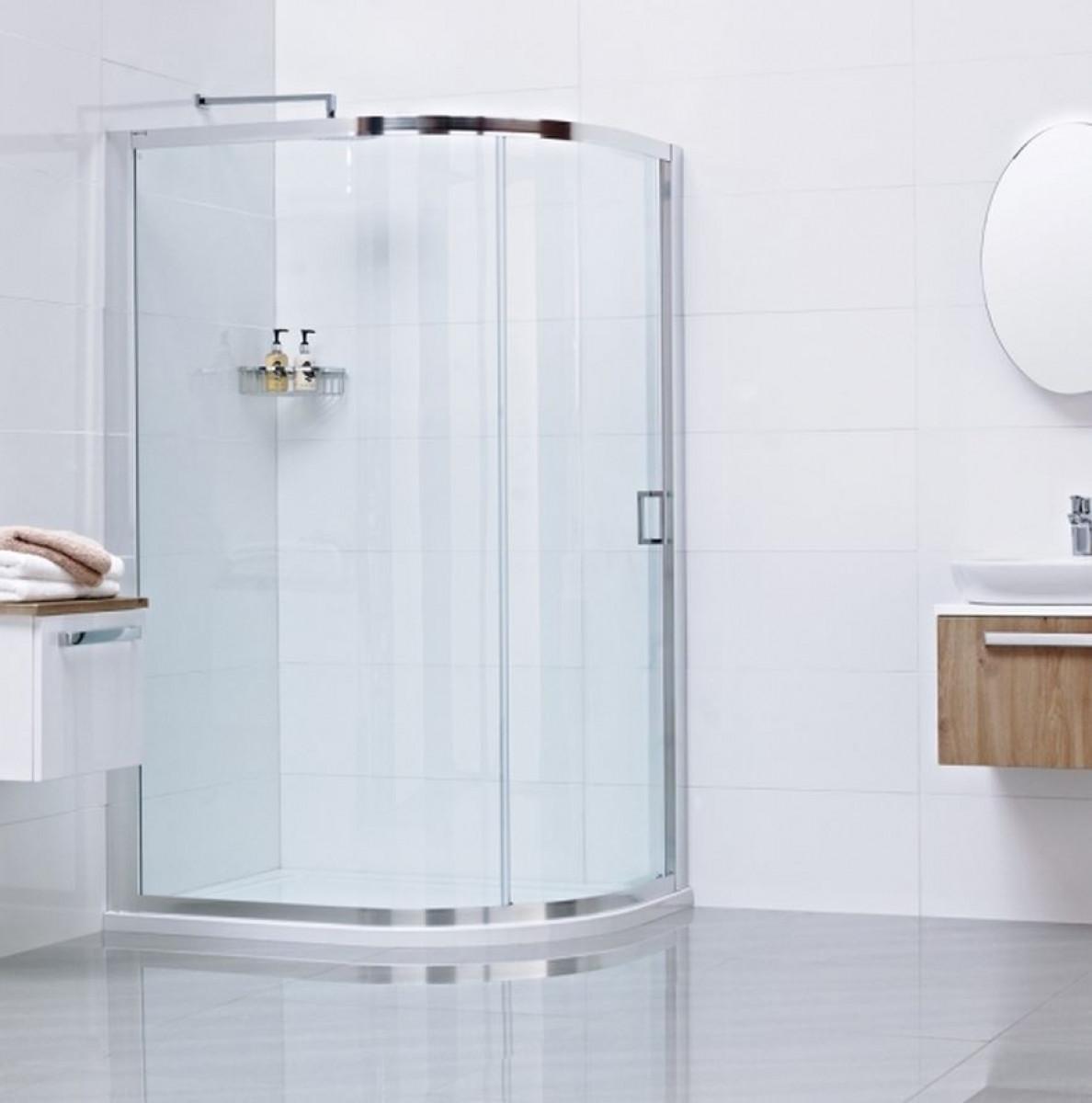 Roman Lumin8 One Door 800 X 900 Offset Quadrant Shower