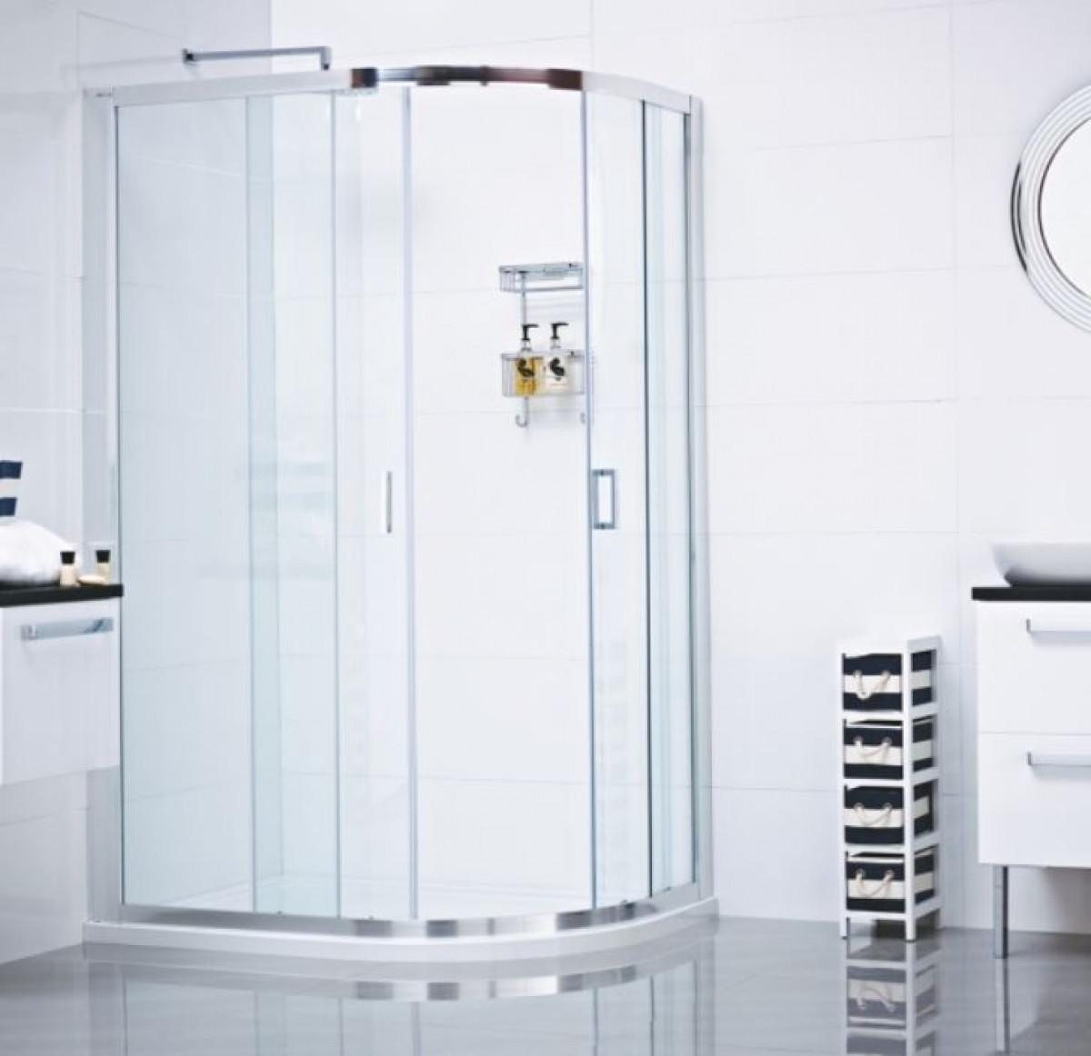 Roman Lumin8 Two Door 900 X 1200 Offset Quadrant Shower