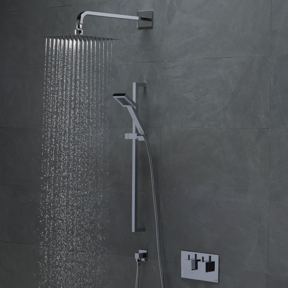 Roper Rhodes Event Square Dual Function Shower System with Fixed ...