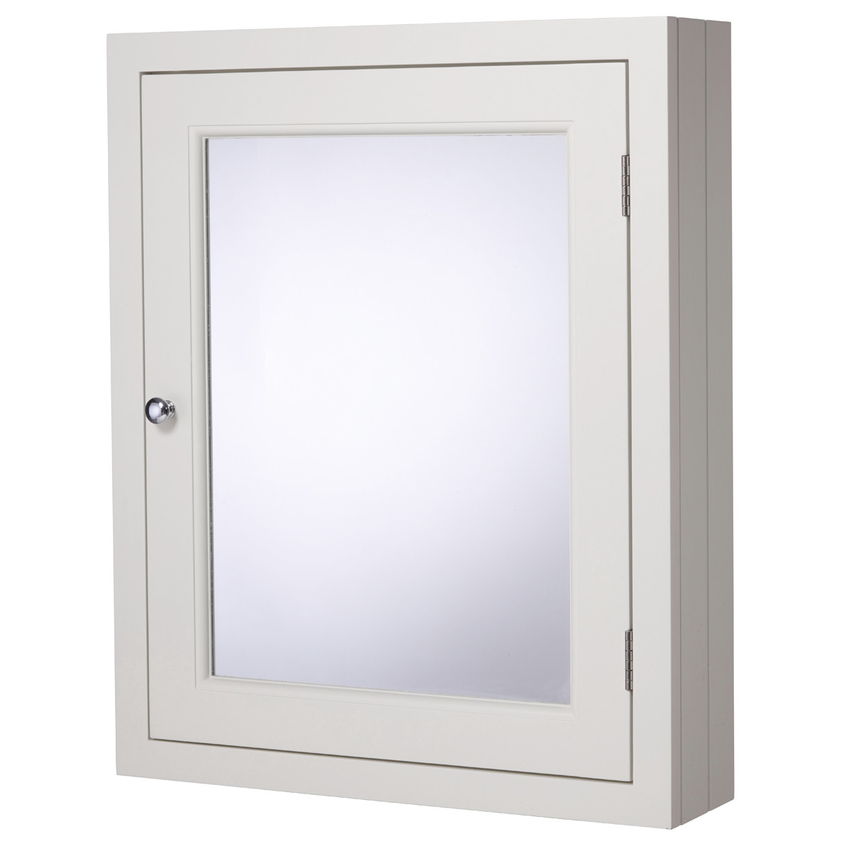 roper rhodes hampton 565mm chalk white mirrored door bathroom cabinet